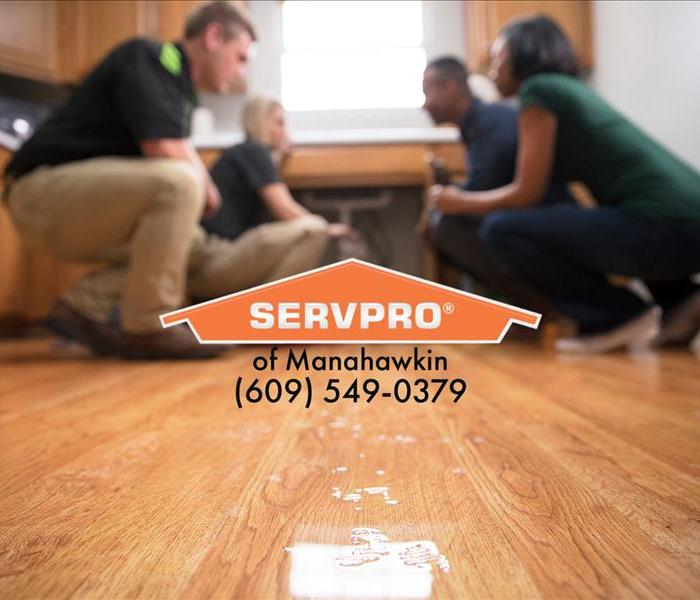 SERVPRO of Manahawkin Techs Assessing Water Damage