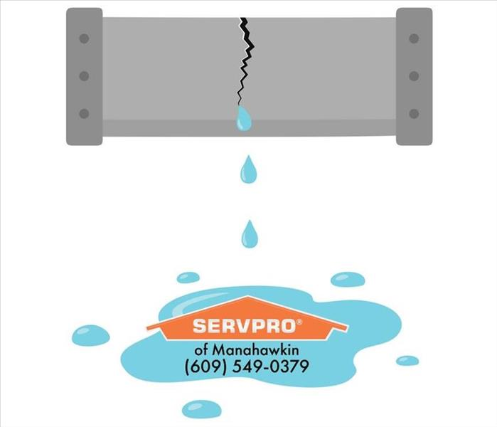 SERVPRO of Manahawkin Helps Fix Water Damage from Leaky Pipe